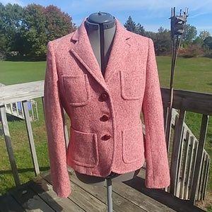 J. Crew Schoolboy Tweed Button Down Pockets Blazer